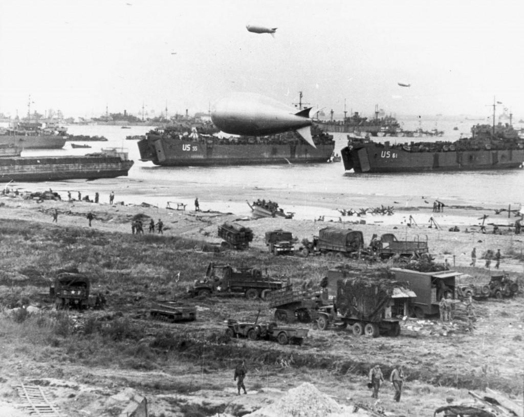 D-day landings strand